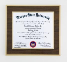 Diploma-Plaque